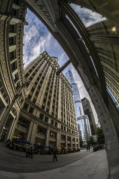 Photograph - Wrigley And Trump A Fisheye View by Sven Brogren