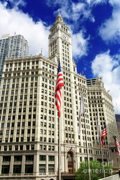 Photograph - Wrigley Building Chicago by John Rizzuto