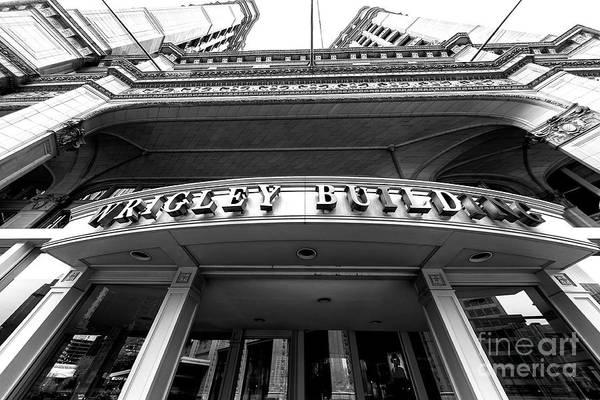 Photograph - Wrigley Building Fisheye View by John Rizzuto