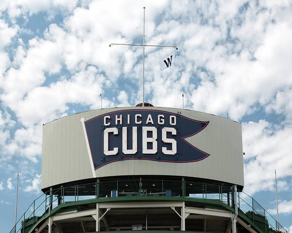 Photograph - Wrigley Field Bleachers Sign by Jemmy Archer