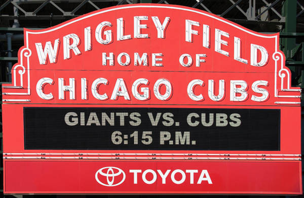 Photograph - Wrigley Field Marquee by Jemmy Archer