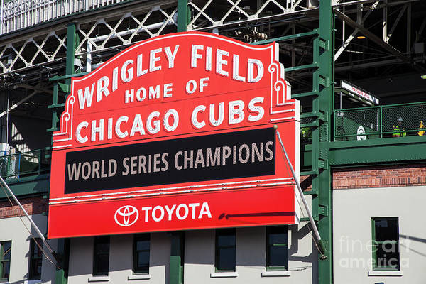 Wall Art - Photograph - Wrigley Field Marquee by Timothy Johnson