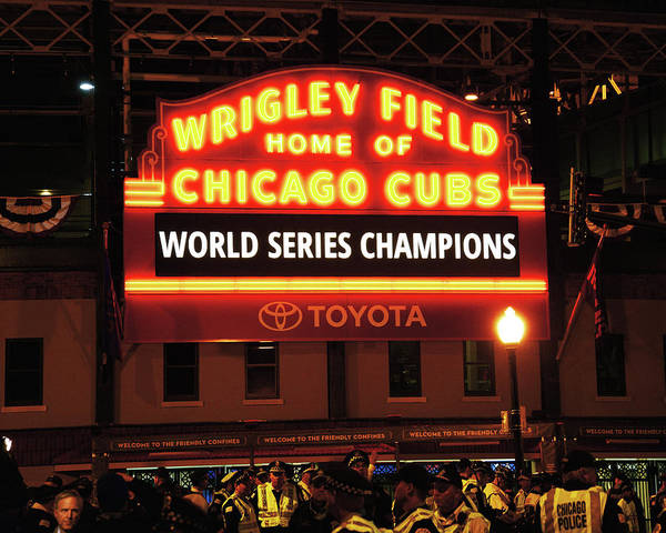 Wall Art - Photograph - Chicago Cubs World Series by Bob Horsch