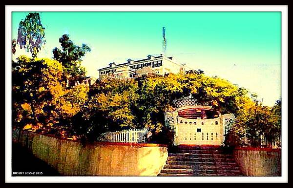 Mansion Mixed Media - Wrigley Home, Catalina Island Ca, 1905 by Dwight GOSS