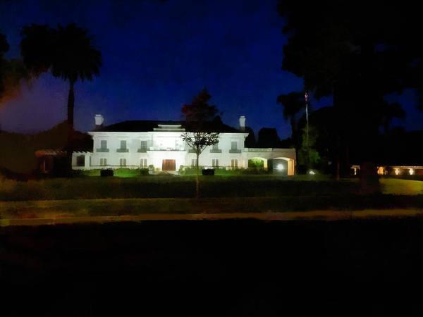 Mansion Mixed Media - Wrigley Mansion Pasadena by Joseph Hollingsworth