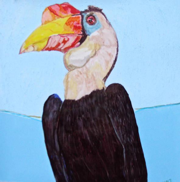 Hornbill Painting - Wrinklebill by Jamie Downs