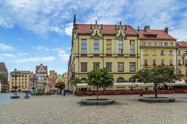 Tenement Photograph - Wroclaw Market Square, New Town Hall And Tenement Houses by Melanie Viola