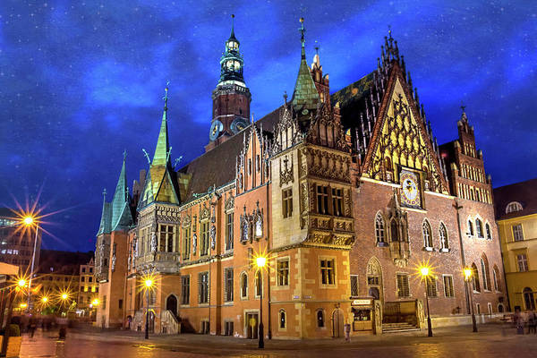 Wall Art - Photograph - Wroclaw Old Town Hall By Night  by Carol Japp