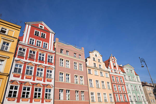 Tenement Photograph - Wroclaw Old Town Houses by Artur Bogacki