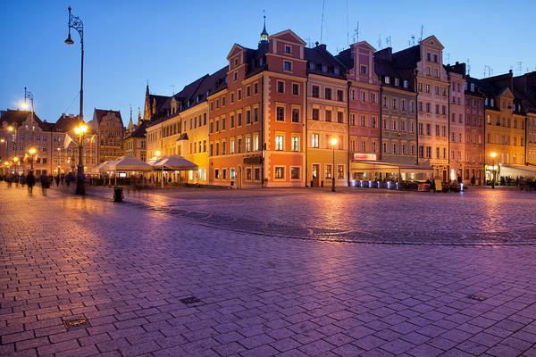 Tenement Photograph - Wroclaw Old Town Market Square At Dusk by Artur Bogacki