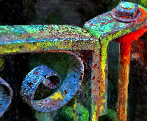 Painting - Wrought Iron Gate by Rick Mosher