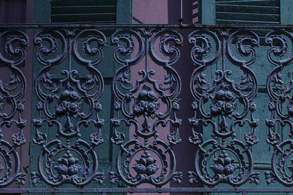 Nola Photograph - Wrought Iron Railings by Garry Gay