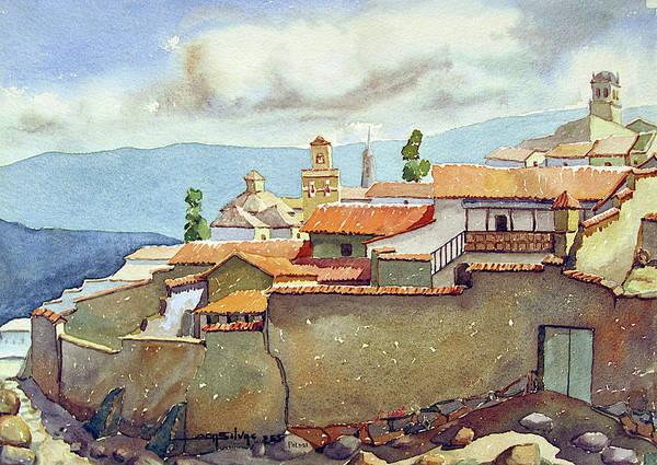 Bolivia Painting - Ws1955bo001 Landscape Of Potosi 13.75x9.75 by Alfredo Da Silva