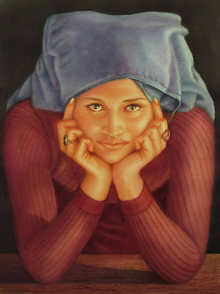 Bolivia Painting - Ws1979ar001 Sylvia Buenos Aires by Alfredo Da Silva