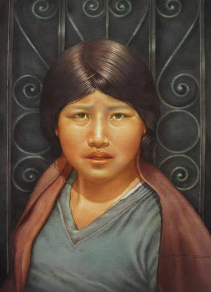 Bolivia Painting - Ws1979bo002potosi Miriana 14x20 by Alfredo Da Silva