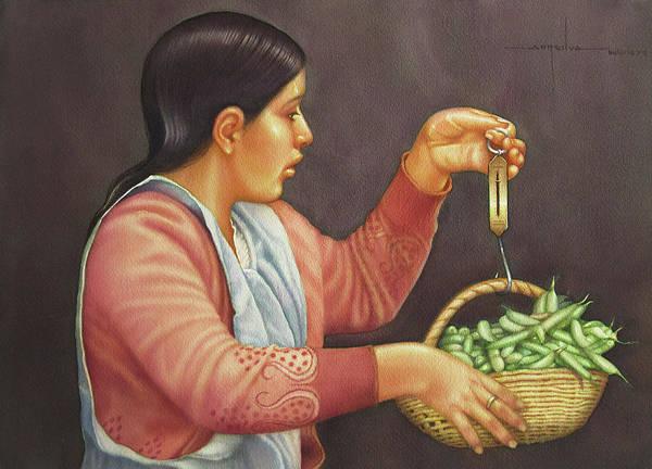 Bolivia Painting - Ws1979bo003potosi Melissa 20x14 by Alfredo Da Silva