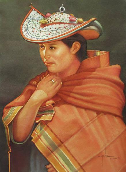 Bolivia Painting - Ws1979bo005potosi Nicolaza 14x20 by Alfredo Da Silva