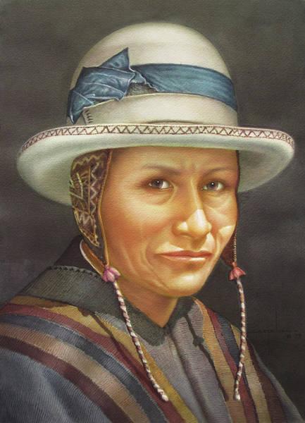 Bolivia Painting - Ws1979bo008potosi Juan 14x20 by Alfredo Da Silva