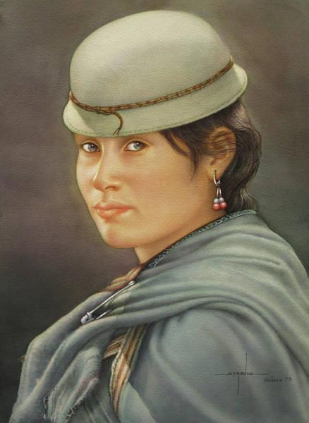 Bolivia Painting - Ws1979bo009potosi Mevelina 14x20 by Alfredo Da Silva