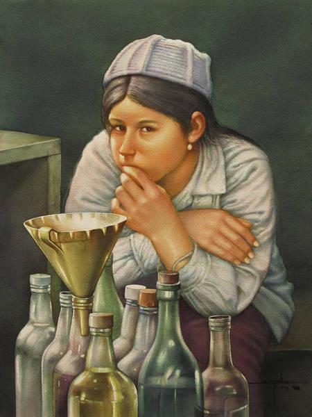 Bolivia Painting - Ws1979bo014 Lusila La Paz 14x20 by Alfredo Da Silva