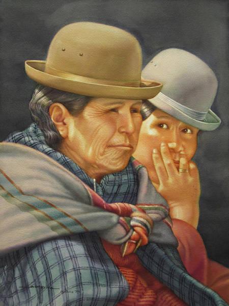 Bolivia Painting - Ws1979bo015 Azunta Y Corina La Paz 14x20 by Alfredo Da Silva