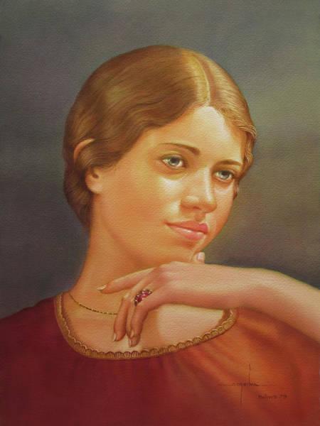Bolivia Painting - Ws1979ny001 Lucy 14x20 by Alfredo Da Silva