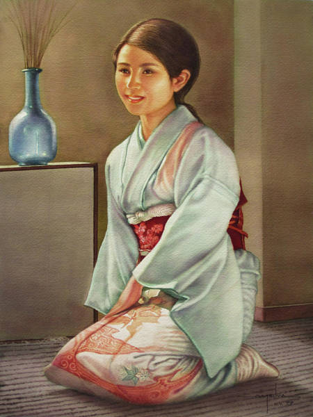 Washington D.c Painting - Ws1979ny003jpn Umiko 14x20 by Alfredo Da Silva