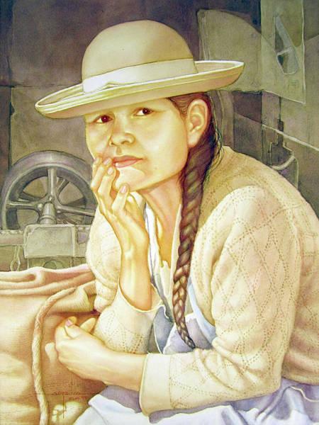 Bolivia Painting - Ws1995dc003 Ana 15x19.75 by Alfredo Da Silva