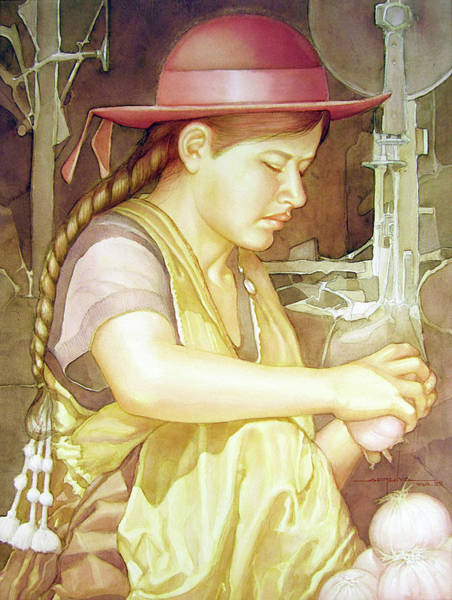 Bolivia Painting - Ws1995dc004 Ivon 15x20 by Alfredo Da Silva