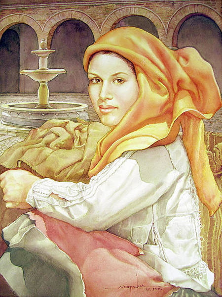 Bolivia Painting - Ws1995dc005 Rosana 14.75x19.5 by Alfredo Da Silva