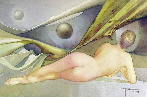 Wall Art - Painting - Ws1999dc003ba Gladys 18.25x12 by Alfredo Da Silva