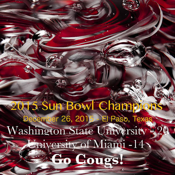 Photograph - Wsu - 2015 Sun Bowl Champs by David Patterson