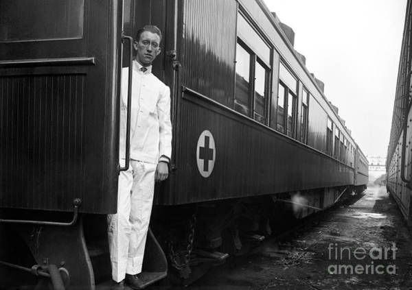 Photograph - Ww I: Red Cross Railroad by Granger