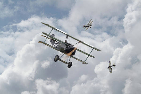 Wall Art - Photograph - Ww1 - Fokker Dr1 - Predator by Pat Speirs