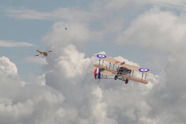 Wall Art - Photograph - Ww1 - The Fokker Scourge - Eindecker by Pat Speirs