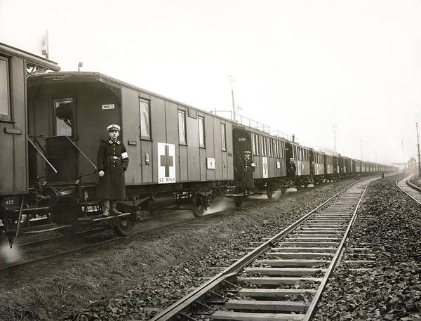 Wall Art - Photograph - Wwi German Hospital Train by Underwood Archives
