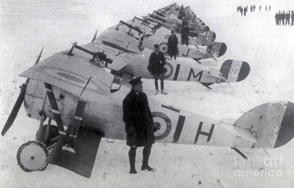 Photograph - Wwi, No. 1 Raf Squadron, 1917 by Science Source