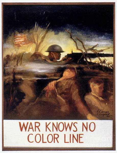 Photograph - Wwii: Color Line Poster by Granger