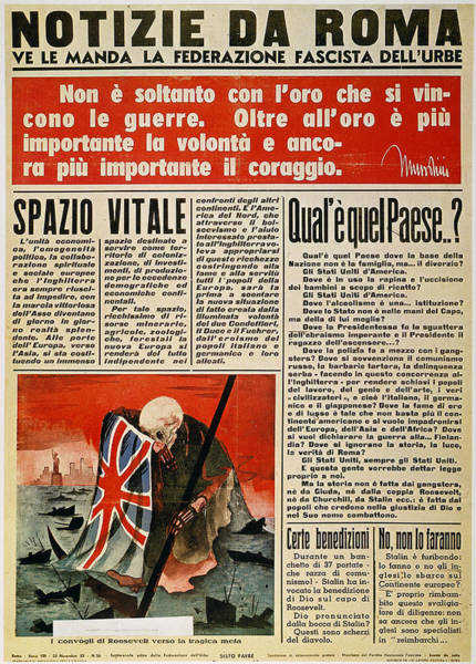 Photograph - Wwii: Italian Newspaper by Granger