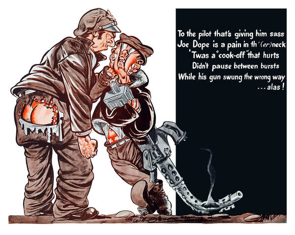 Wwii Painting - Wwii Joe Dope Cartoon by War Is Hell Store