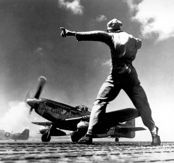 Photograph - Wwii, North American P-51 Mustang, 1940s by Science Source