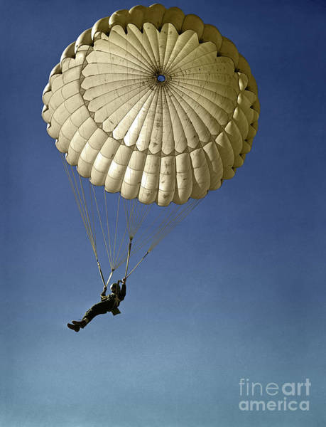 Photograph - Wwii Paratrooper Training by Granger