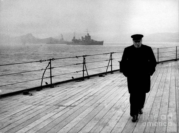 Wall Art - Photograph - Wwii, Winston Churchill, U.k. Prime by Science Source