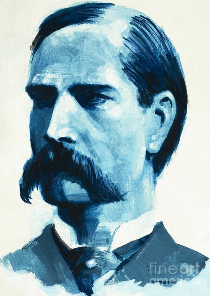 Mustache Painting - Wyatt Earp by English School