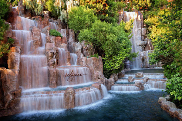 Famous Waterfall Wall Art - Photograph - Wynn Waterfalls by Ricky Barnard