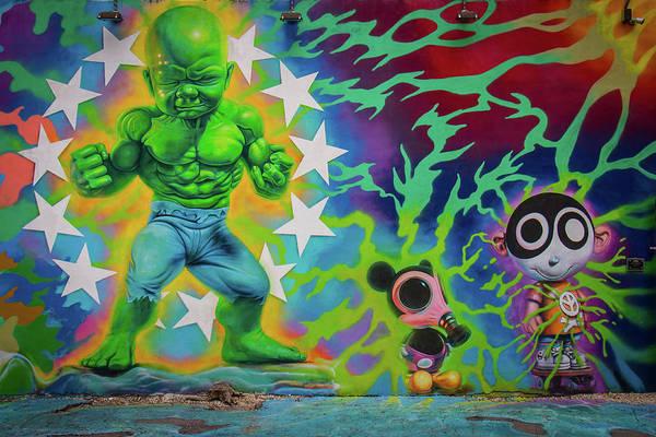 Spray Paint Photograph - Wynwood Hulk by Mike Burgquist