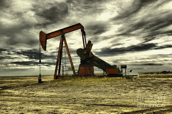 Wall Art - Photograph - Wyoming Pumpjack by Jeff Swan