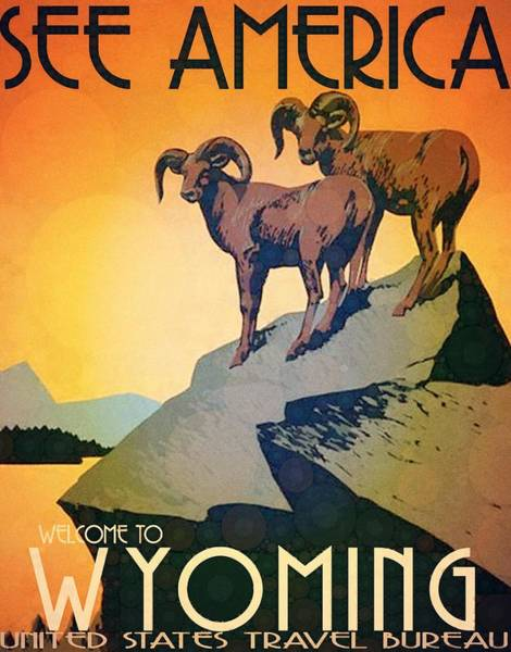 Wall Art - Digital Art - Wyoming by Steven Boland