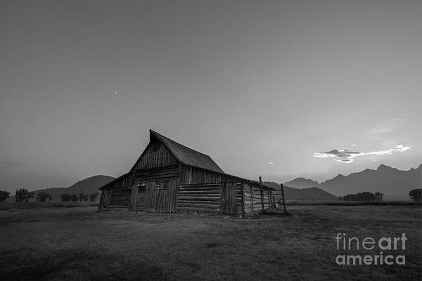 Wall Art - Photograph - Wyoming Sunset At Mormon Row Bw by Michael Ver Sprill