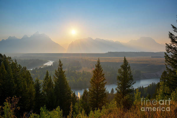 Moose Art Photograph - Wyoming Sunset At Snake River by Michael Ver Sprill